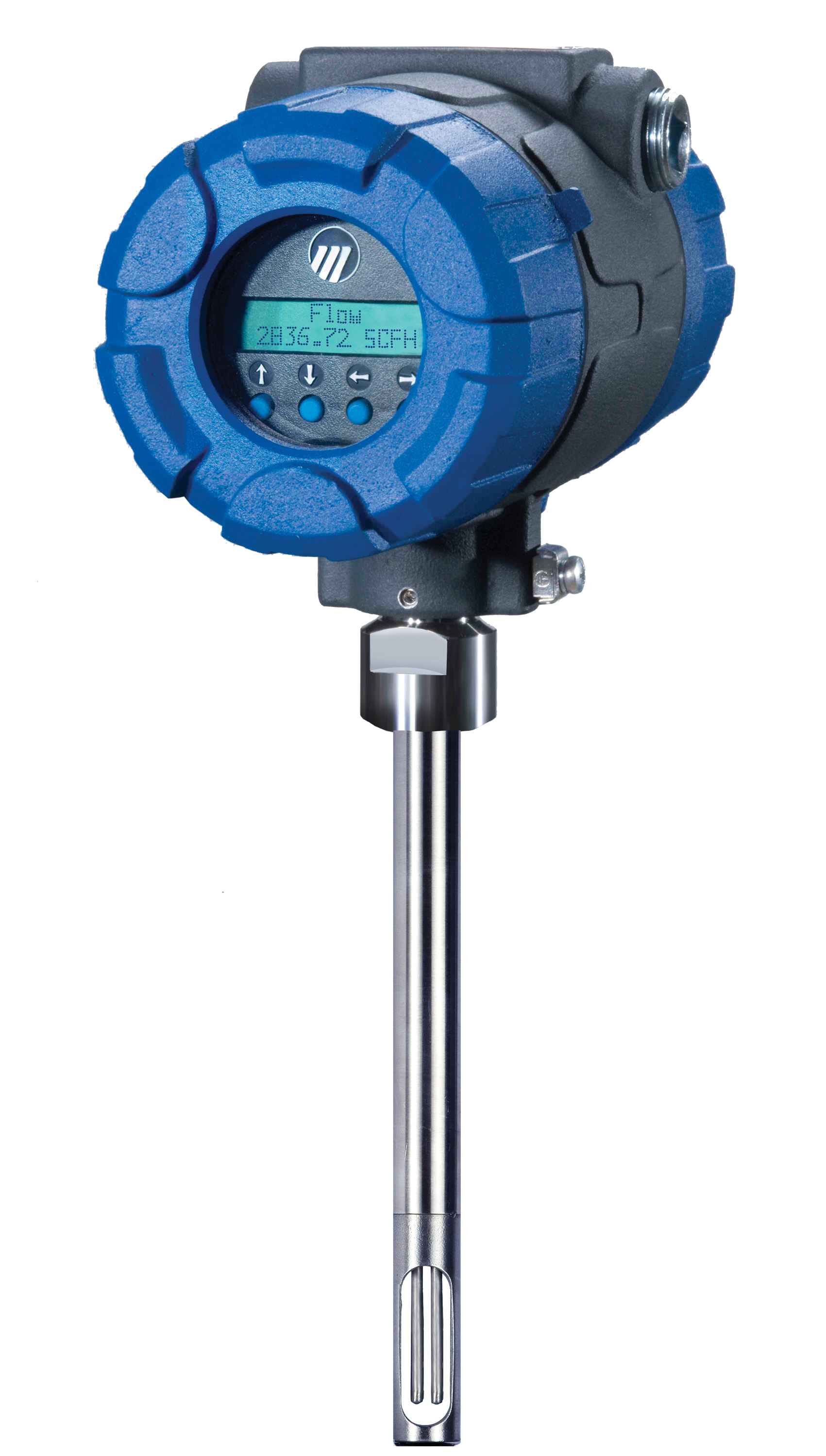 Thermatel ta thermal mass flow meter with foundation
